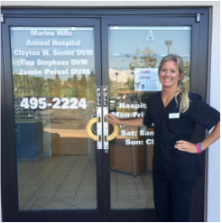Marina Hills Animal Hospital front door